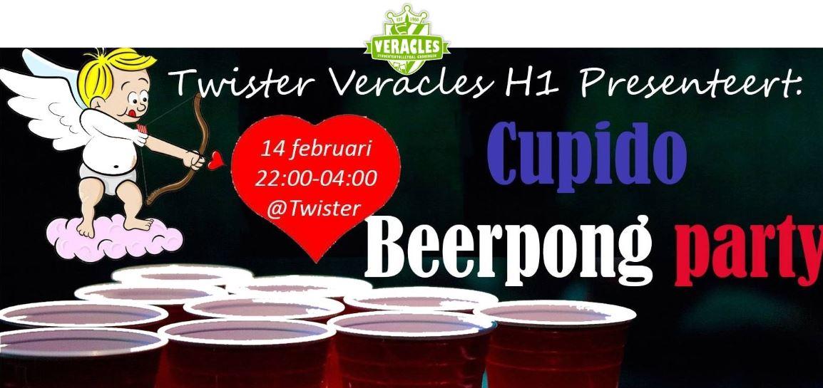 Twister weekfeest: Cupido Beerpong party
