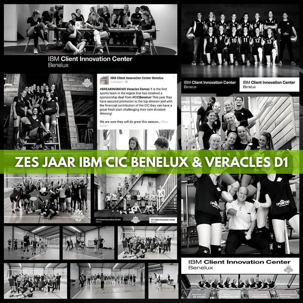 Veracles Dames 1 en IBM CIC Benelux nemen afscheid van elkaar