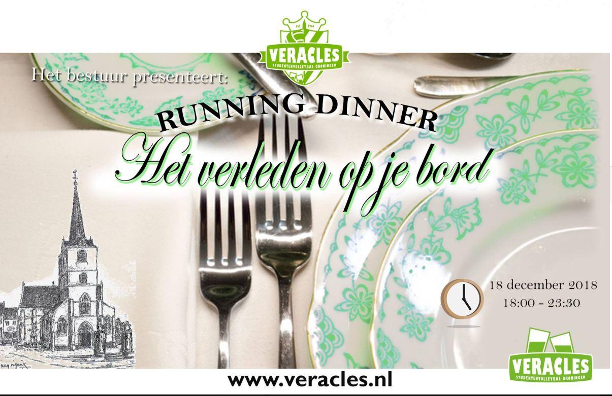 Running diner: Het verleden op je bord + Borrel
